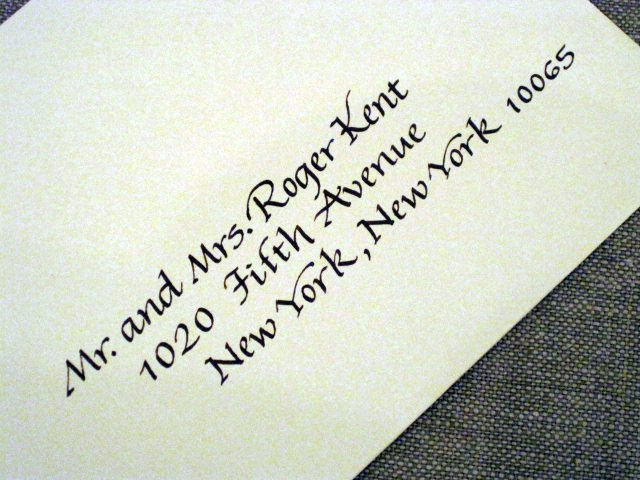 Calligraphy addressed envelope | Italic