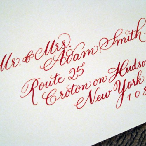 Calligraphy addressed envelope | Flourished copperplate