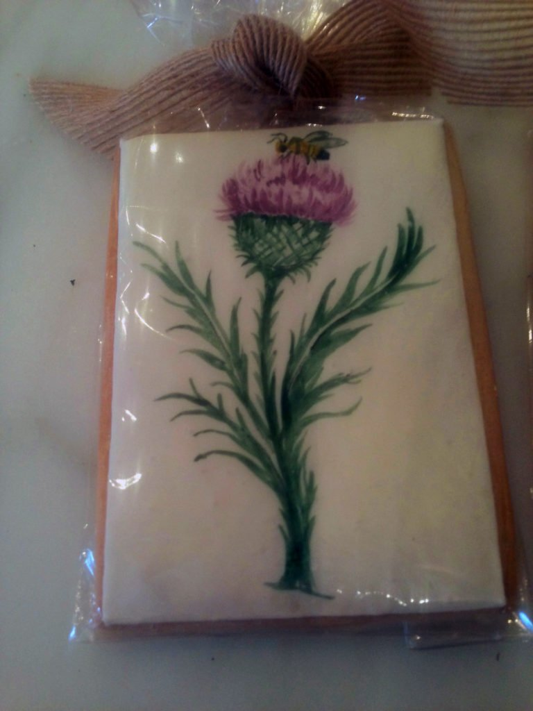 Our Thistle Theme on Custom Cookie