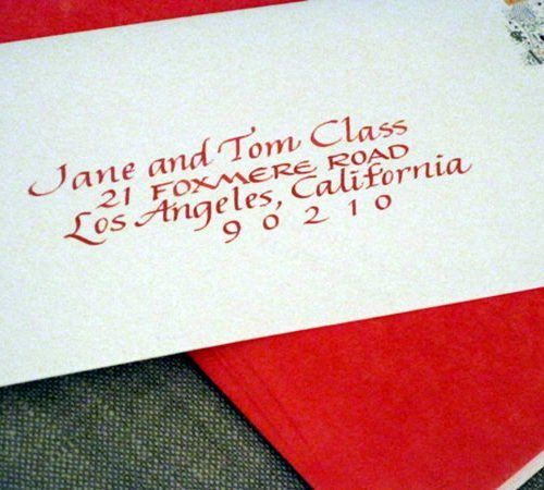 Calligraphy addressed envelope | Playful Italic