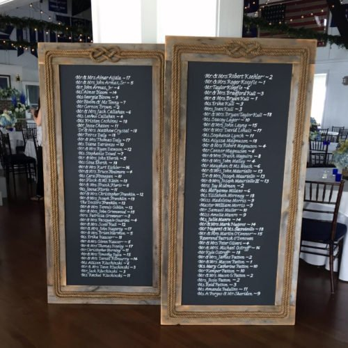 Jersey Shore Wedding / Custom Blackboard Escort List