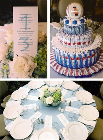 Bar Mitzvah Celebration | Menu Card, Candy Centerpieces