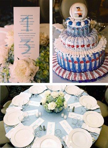 Bar Mitzvah Celebration | Menu Card, Candy Centerpieces