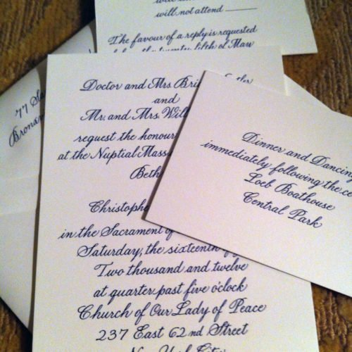 Wedding Invitation Suite in Bickham Script